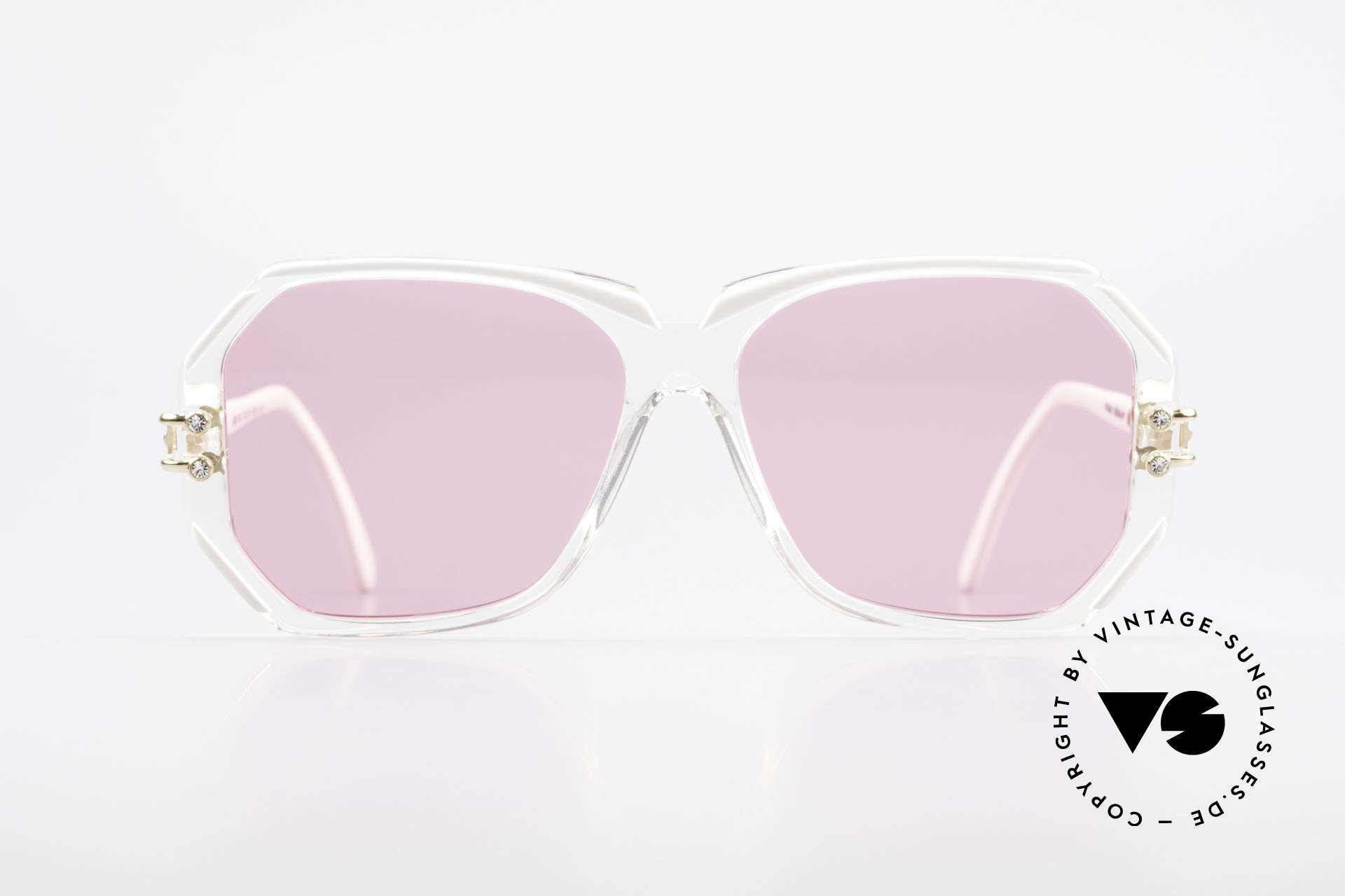 Cazal 169 Pink Vintage Designer Shades, hand made around 1989/1990 (FRAME GERMANY), Made for Women
