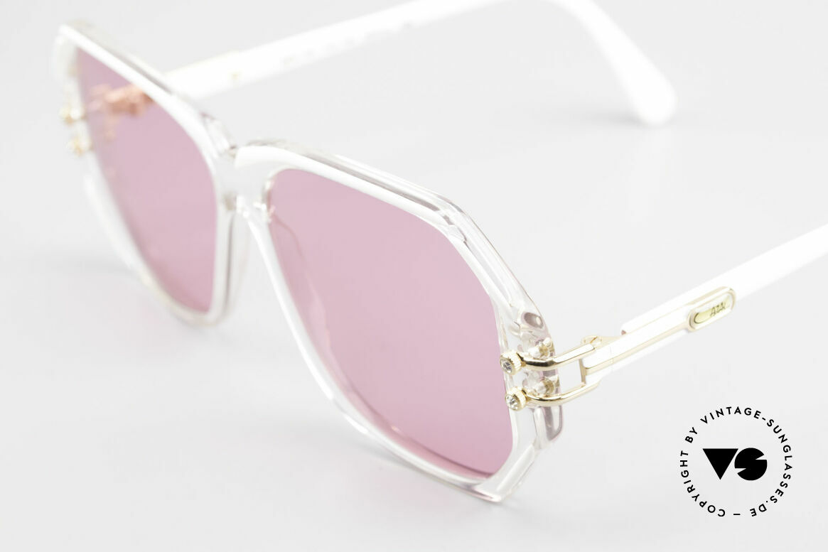 Cazal 169 Pink Vintage Designer Shades, with some tiny rhinestones as ornamental screws, Made for Women