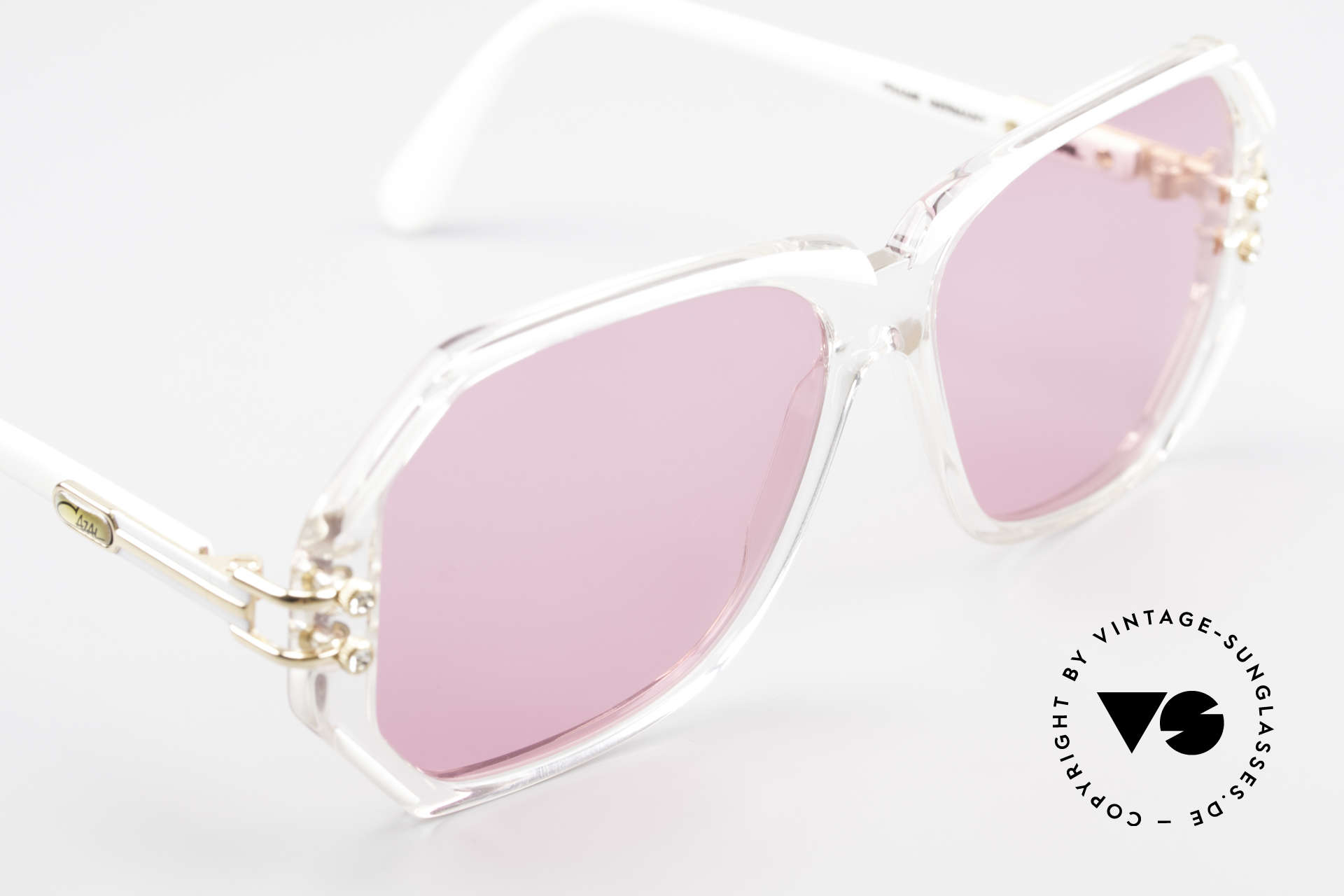 Cazal 169 Pink Vintage Designer Shades, new old stock, NOS (like all our rare vintage Cazals), Made for Women