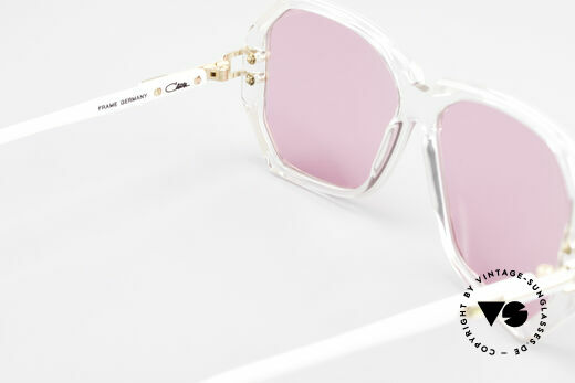 Cazal 169 Pink Vintage Designer Shades, NO RETRO shades, but an app. 28 years old original, Made for Women