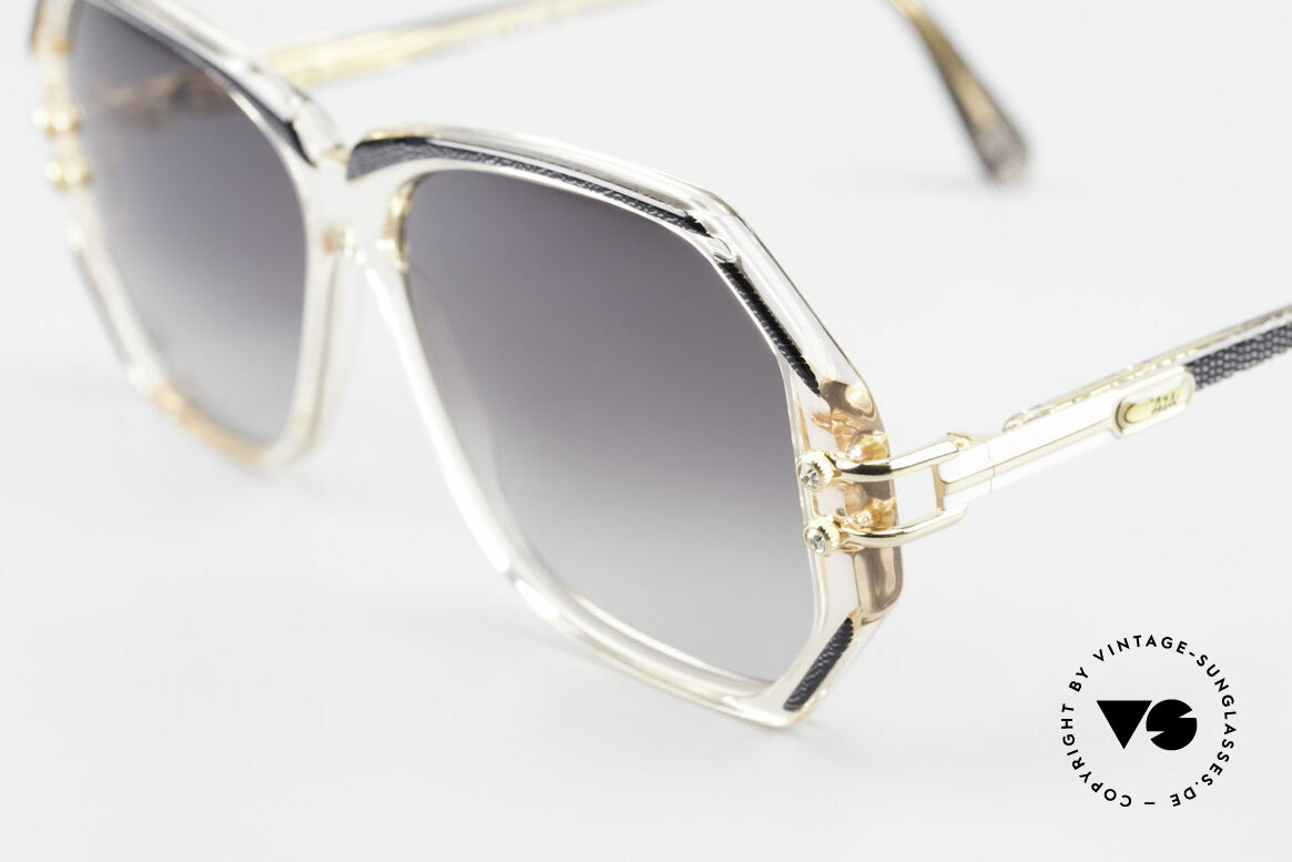 Cazal 169 90's Vintage Ladies Sunglasses, with some tiny rhinestones as ornamental screws, Made for Women