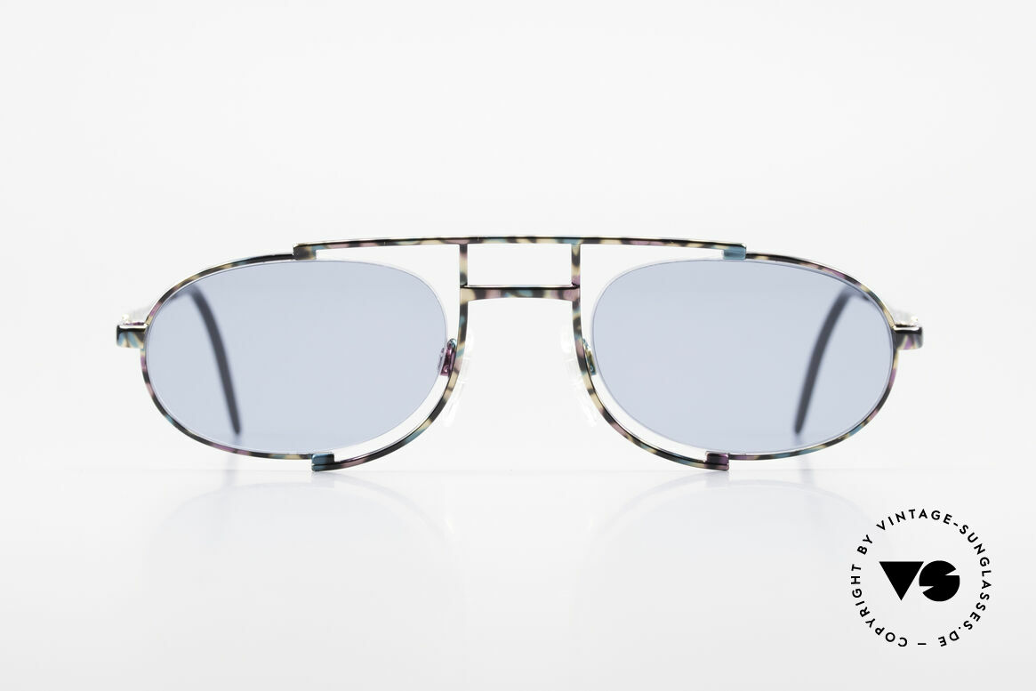 Cazal 753 Oval 90's Designer Sunglasses, extraordinary, semi-rimless frame construction, Made for Men