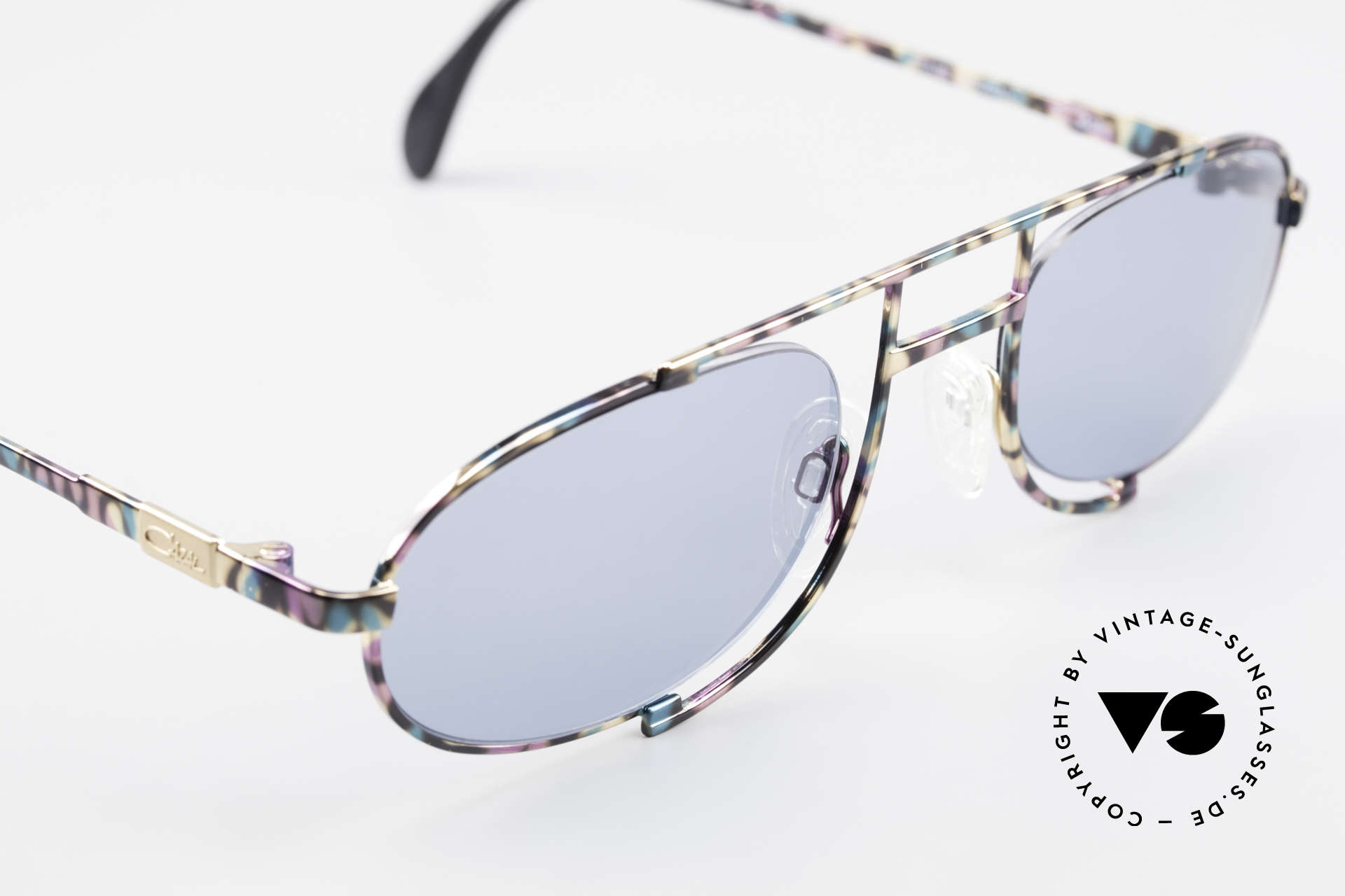 Cazal 753 Oval 90's Designer Sunglasses, Cazal called the paintwork 'petrol-aubergine-black', Made for Men