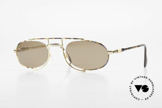 Cazal 753 Rare Oval Designer Sunglasses Details