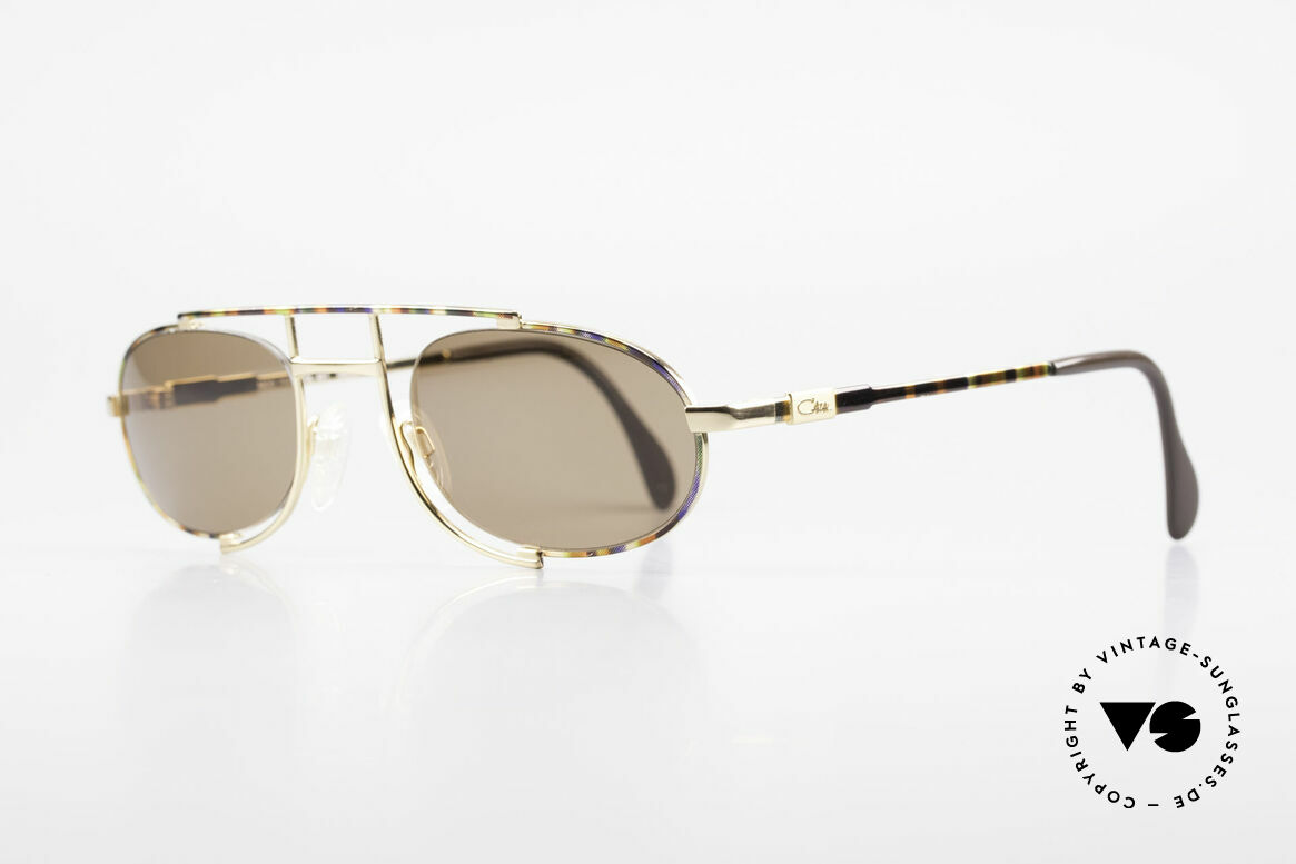 Cazal 753 Rare Oval Designer Sunglasses, a true eye-catcher designed by Mr. CAri ZALloni, Made for Men
