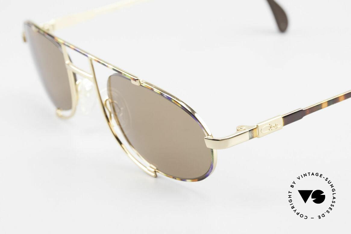 Cazal 753 Rare Oval Designer Sunglasses, high-grade craftsmanship (frame made in Germany), Made for Men