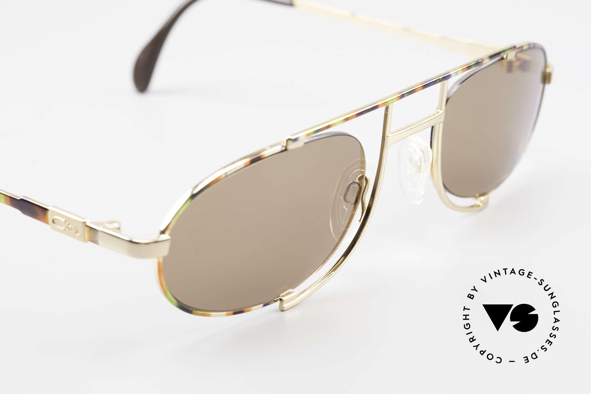 Cazal 753 Rare Oval Designer Sunglasses, Cazal called the paintwork 'maize-pistachio-copper', Made for Men