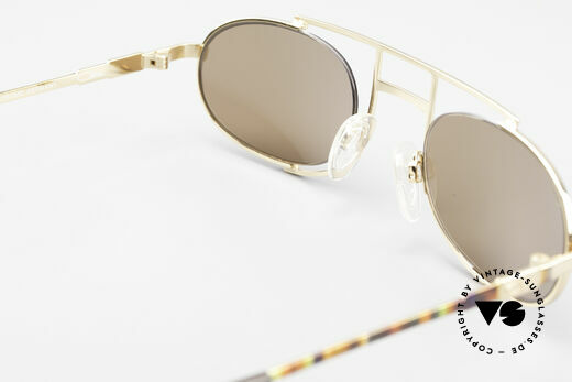 Cazal 753 Rare Oval Designer Sunglasses, new old stock (like all our old vintage CAZAL specs), Made for Men