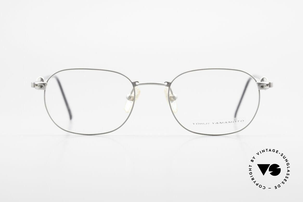 Yohji Yamamoto 51-4113 Titanium Designer Eyeglasses, rather a plain design by the Japanese fashion designer, Made for Men and Women