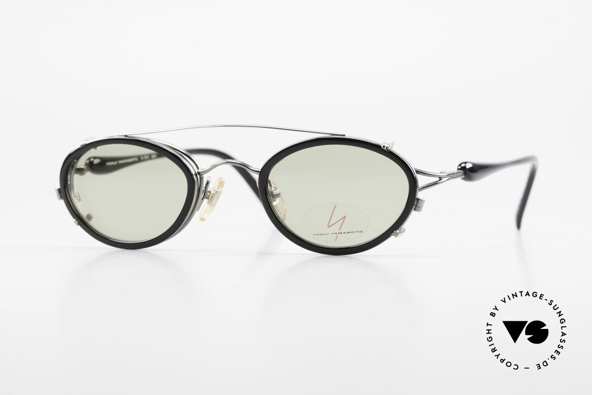 Yohji Yamamoto 51-7210 No Retro Shades Clip-On 90's, vintage 1990's sunglasses by Yohji Yamamoto, Japan, Made for Men and Women