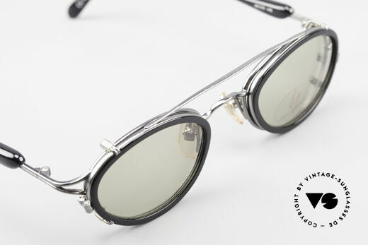 Yohji Yamamoto 51-7210 No Retro Shades Clip-On 90's, frame can be glazed with optical lenses of any kind, Made for Men and Women