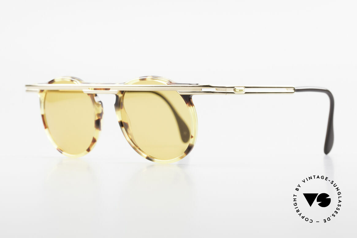 Cazal 648 90's Cari Zalloni Sunglasses, extroverted frame construction with unique coloring, Made for Men and Women