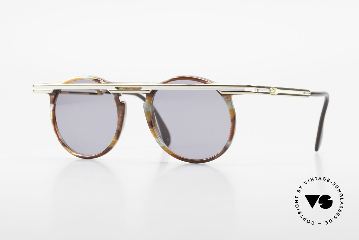 Cazal 648 Cari Zalloni Round Shades 90s, extraordinary CAZAL vintage sunglasses from 1990, Made for Men and Women