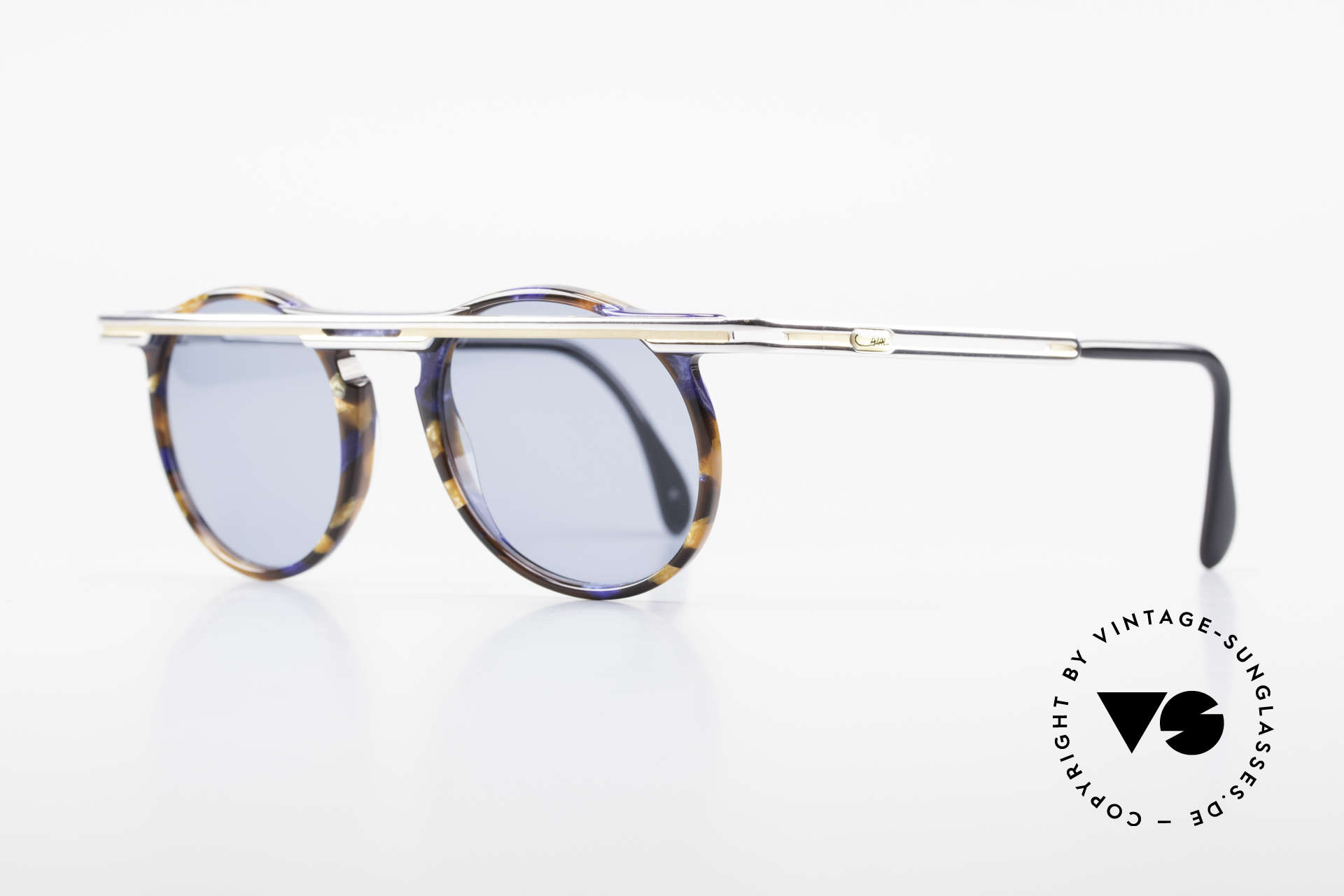 Cazal 648 Old Cari Zalloni Sunglasses, extroverted frame construction with unique coloring, Made for Men and Women