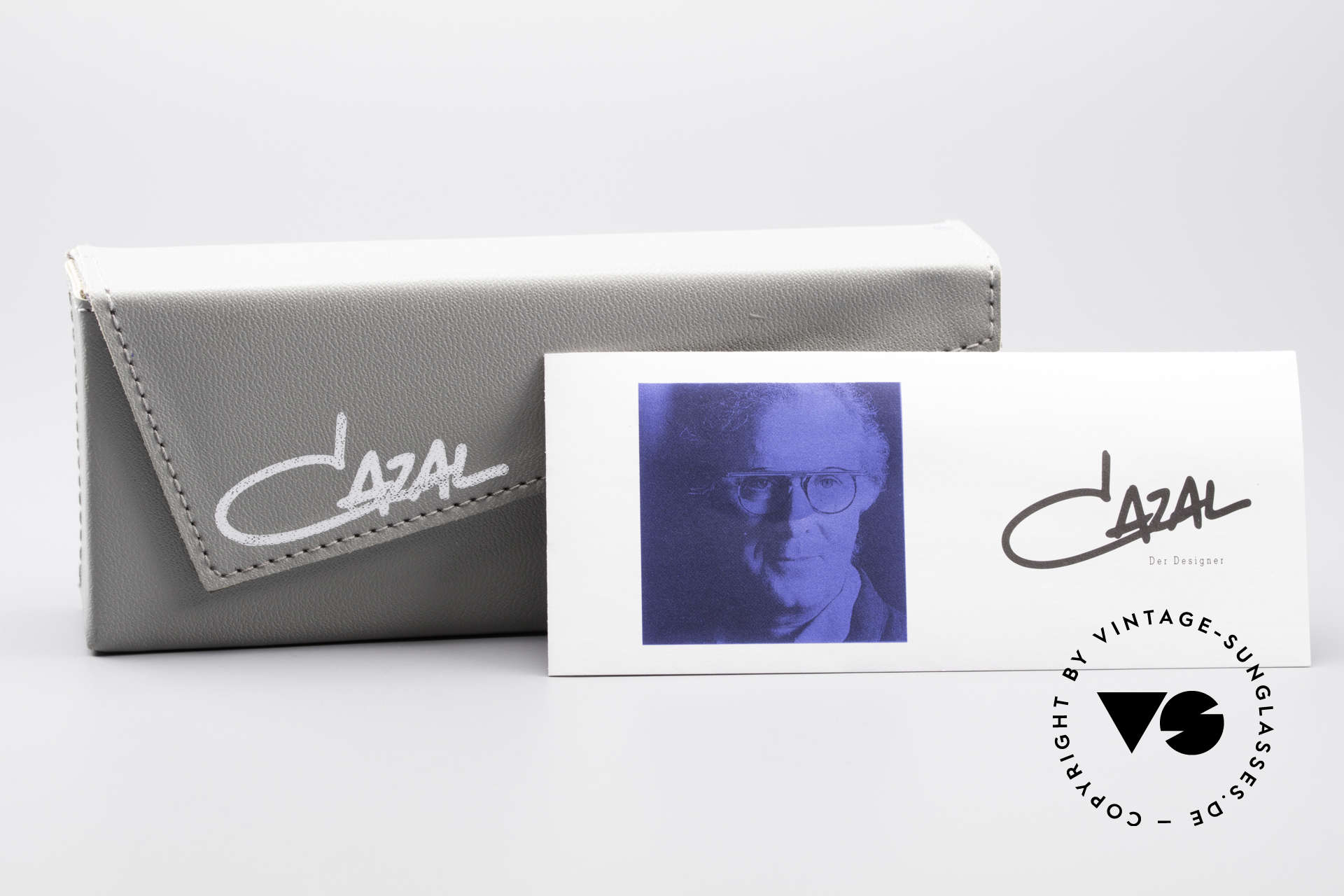 Cazal 648 Old Cari Zalloni Sunglasses, M size 48-19 with blue sun lenses; 100% UV protection, Made for Men and Women