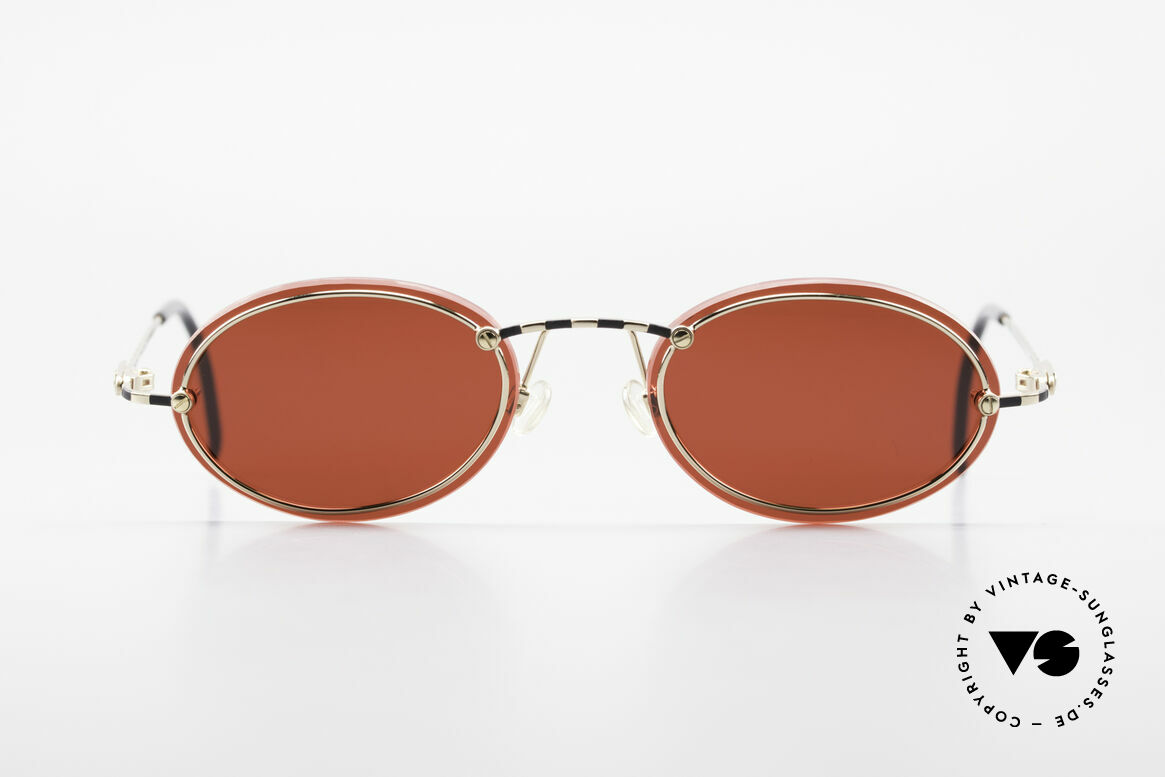 Cazal 770 90's Vintage Sunglasses Oval, thin metal frame with interesting lens mounting, Made for Men and Women