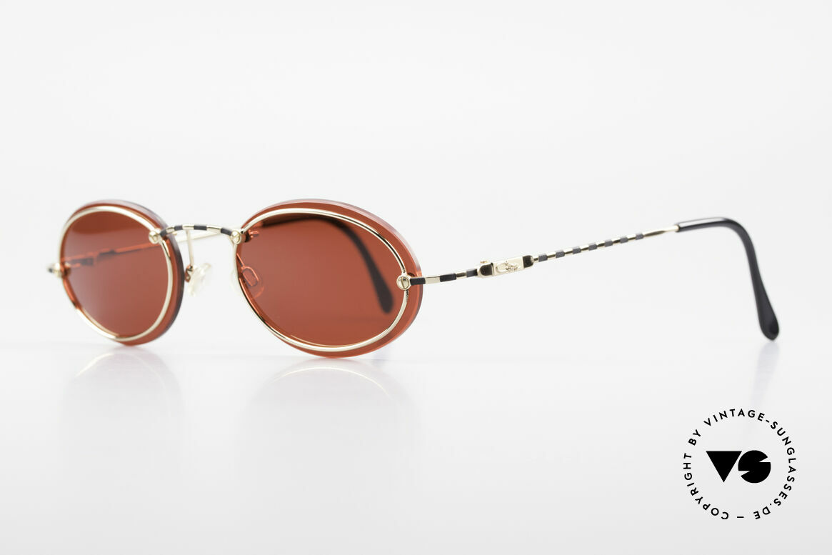 Cazal 770 90's Vintage Sunglasses Oval, minimalist at first glance; but truly sophisticated, Made for Men and Women