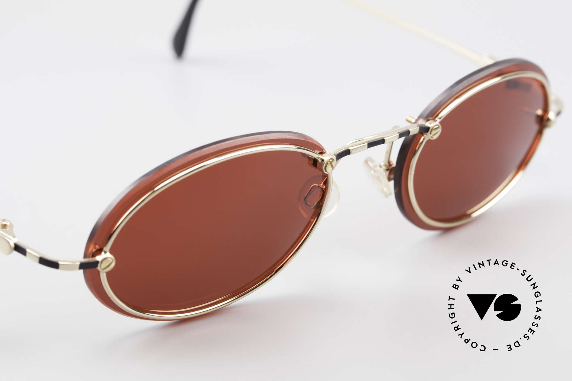 Cazal 770 90's Vintage Sunglasses Oval, NO RETRO glasses, but a rare old 1990's ORIGINAL, Made for Men and Women