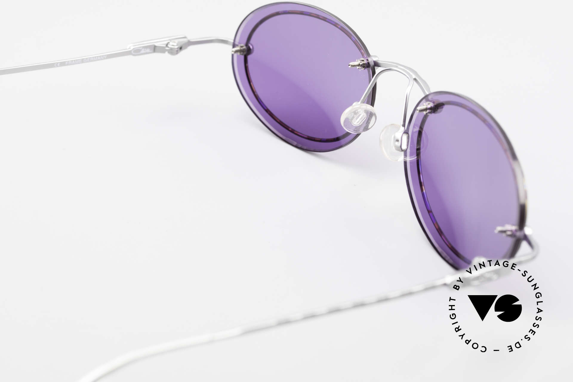 Cazal 770 Oval Vintage Sunglasses 90's, the new purple sun lenses are very pleasant to wear, Made for Men and Women
