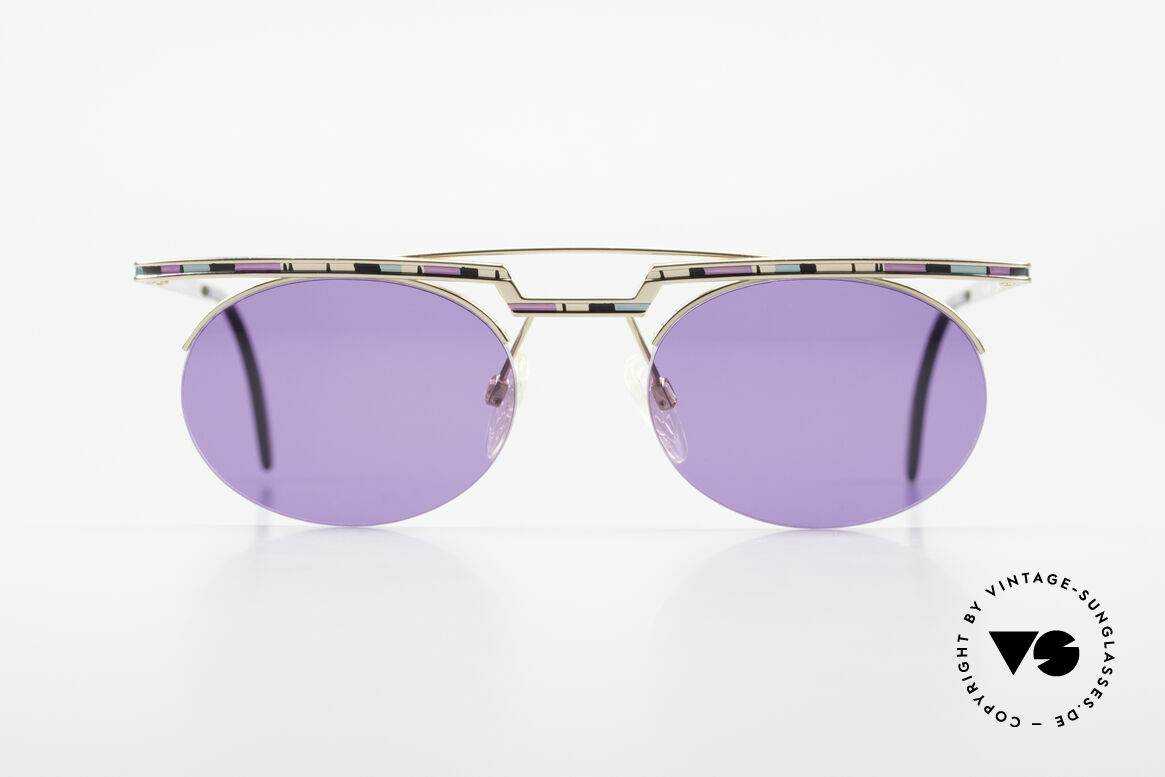 Cazal 758 No Retro Cazal Sunglasses 90s, great geometrical play (oval & square, at the same time), Made for Men and Women