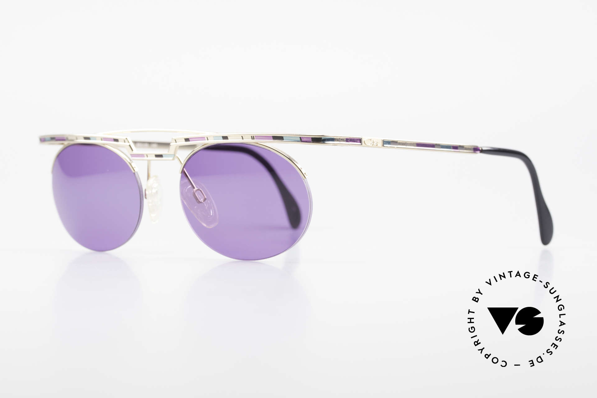 Cazal 758 No Retro Cazal Sunglasses 90s, costly varnishing (characteristical for all vintage Cazals), Made for Men and Women