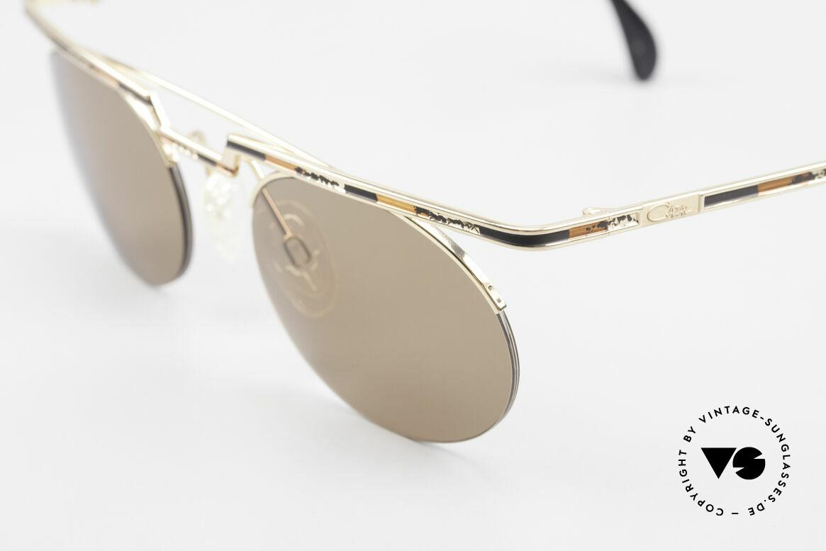 "Cazal 758 Original Cazal Sunglasses 90's, color description in the old catalog: ""gold brown-black"", Made for Men and Women"