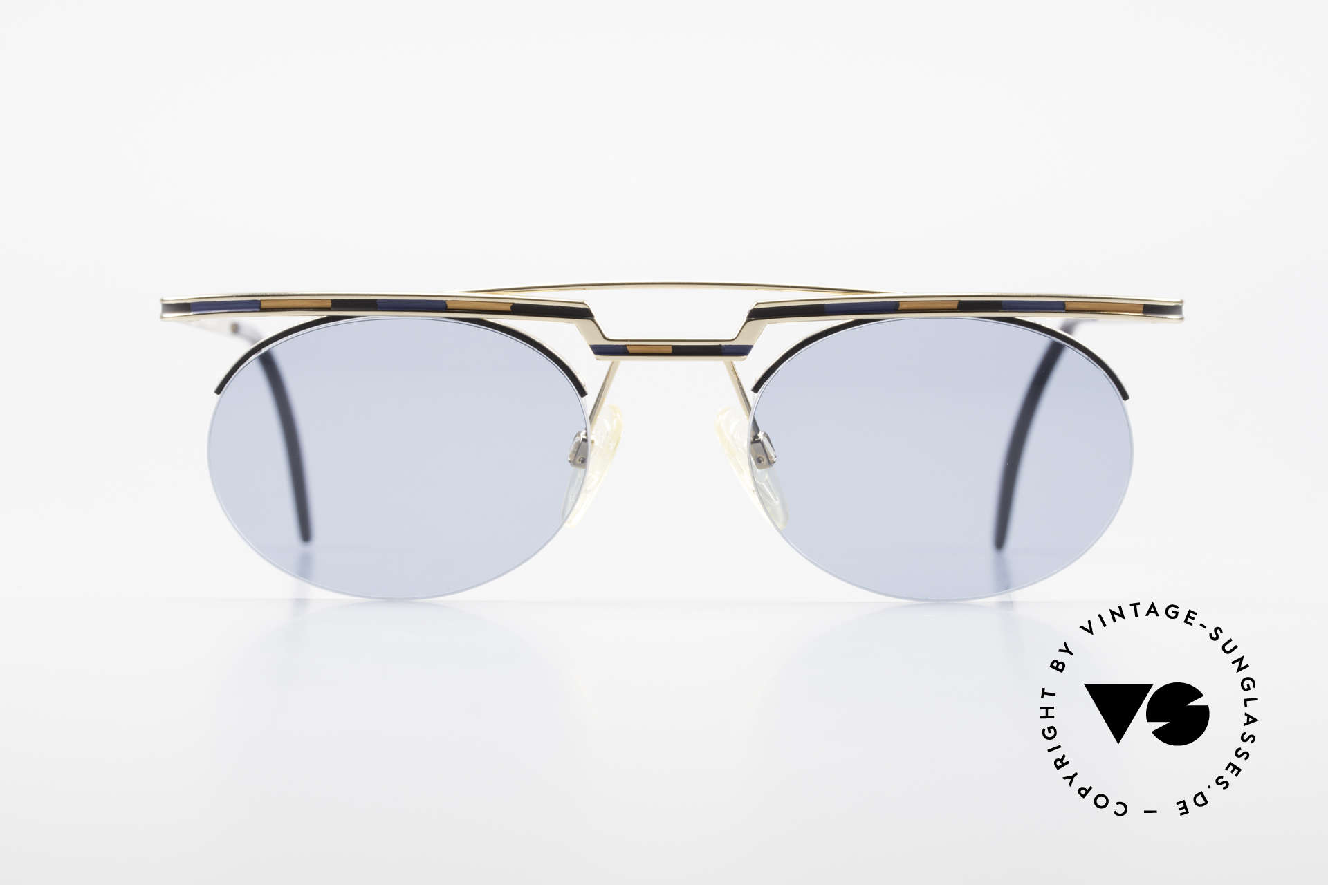 Cazal 758 Original 90s Cazal Sunglasses, great geometrical play (oval & square, at the same time), Made for Men and Women