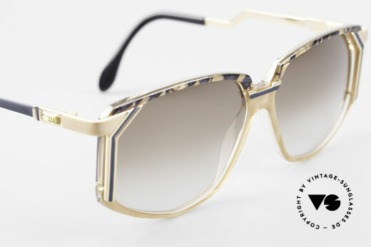 Cazal 346 Hip Hop Designer Sunglasses, with brown-gradient sun lenses (100% UV protection), Made for Men and Women