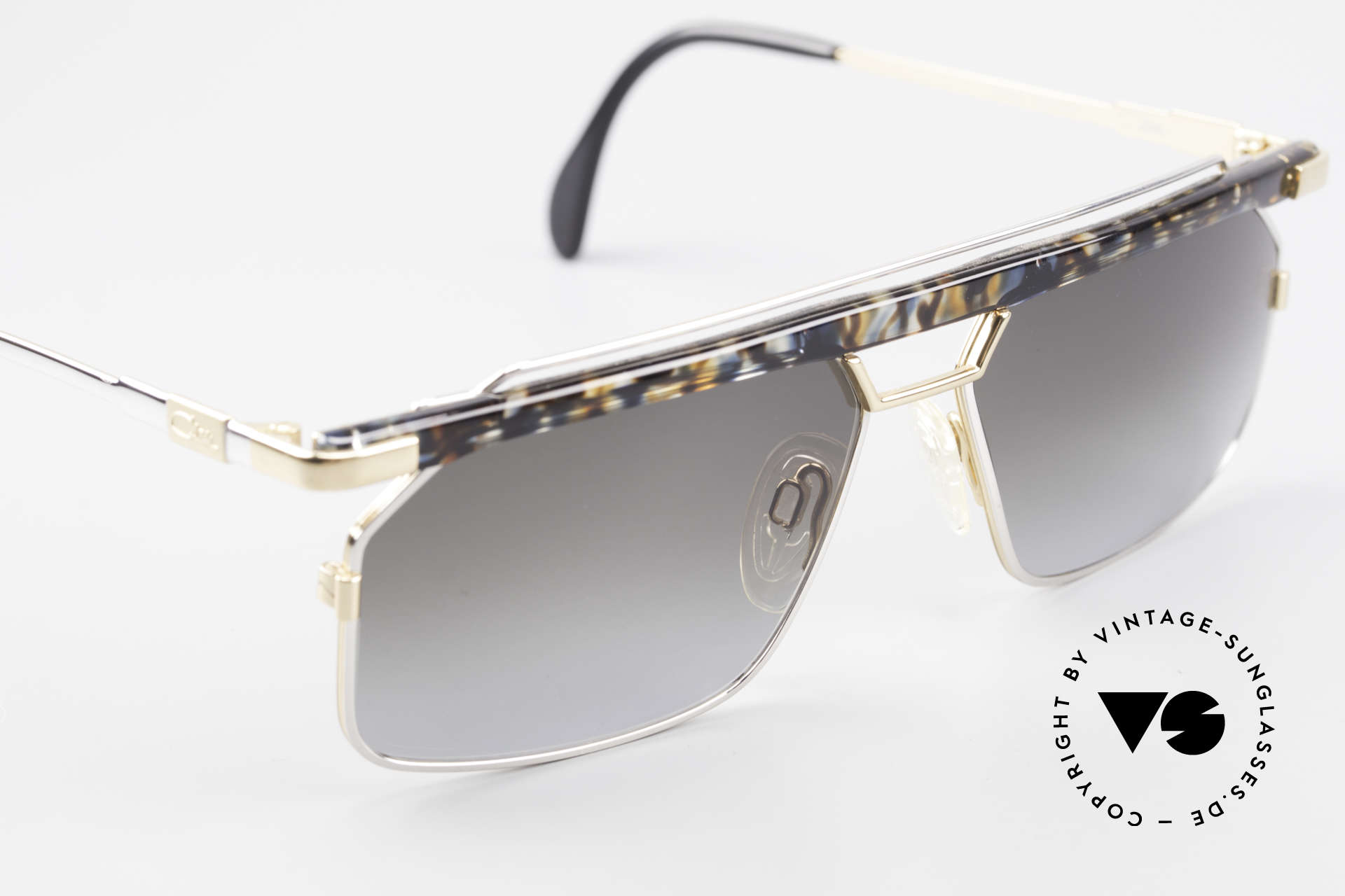 "Cazal 752 Extraordinary Vintage Shades, a true eye-catcher in color: ""blue-ochre crystal"", Made for Men"