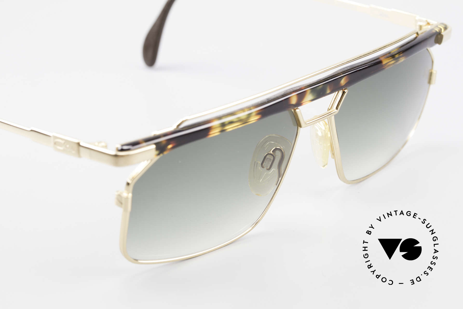 "Cazal 752 Extraordinary Sunglasses 90's, a true eye-catcher in color: ""amber-moss green"", Made for Men"