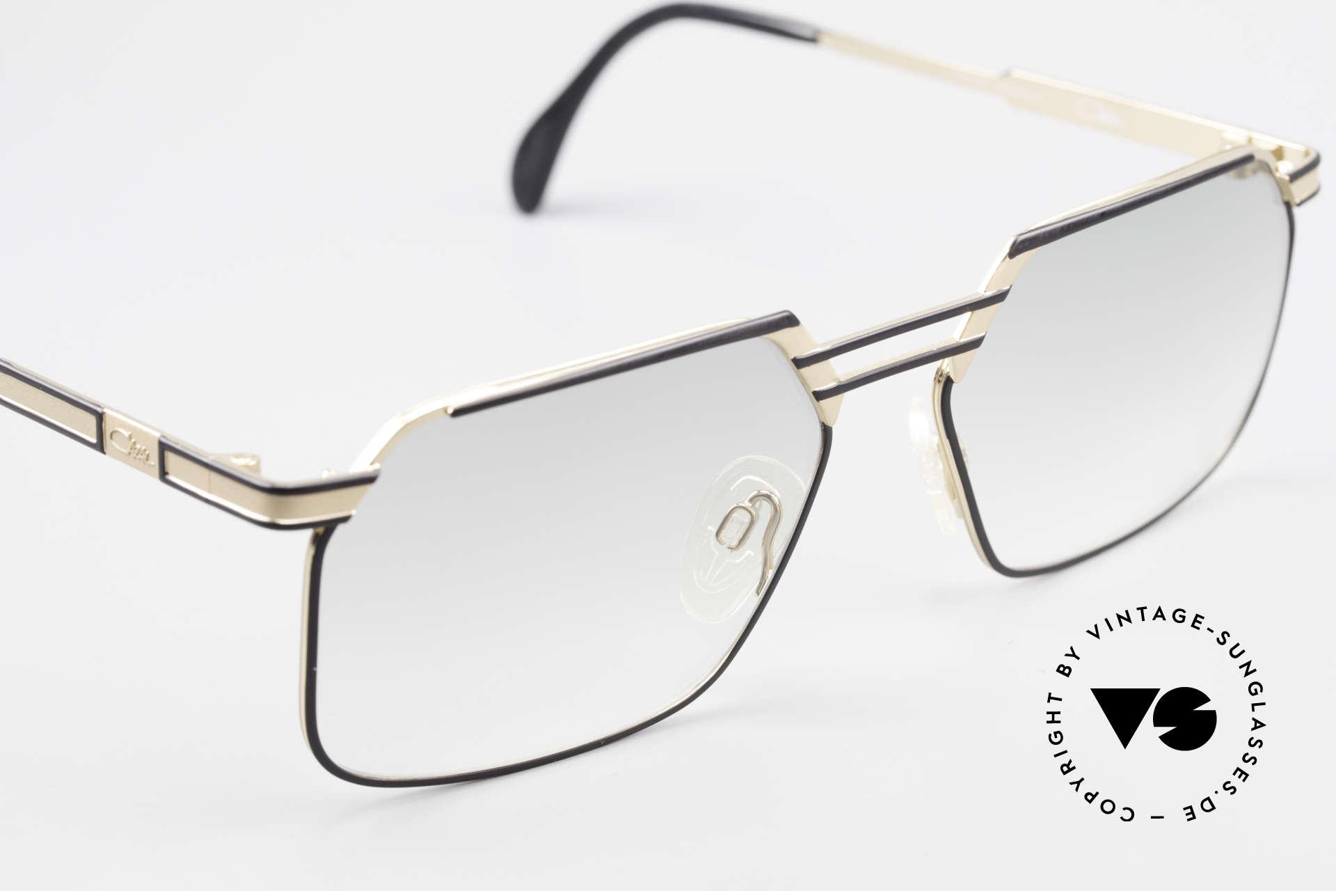 Cazal 760 Striking Vintage Men's Frame, unworn, light-green tinted lenses, L size 59-17, Made for Men