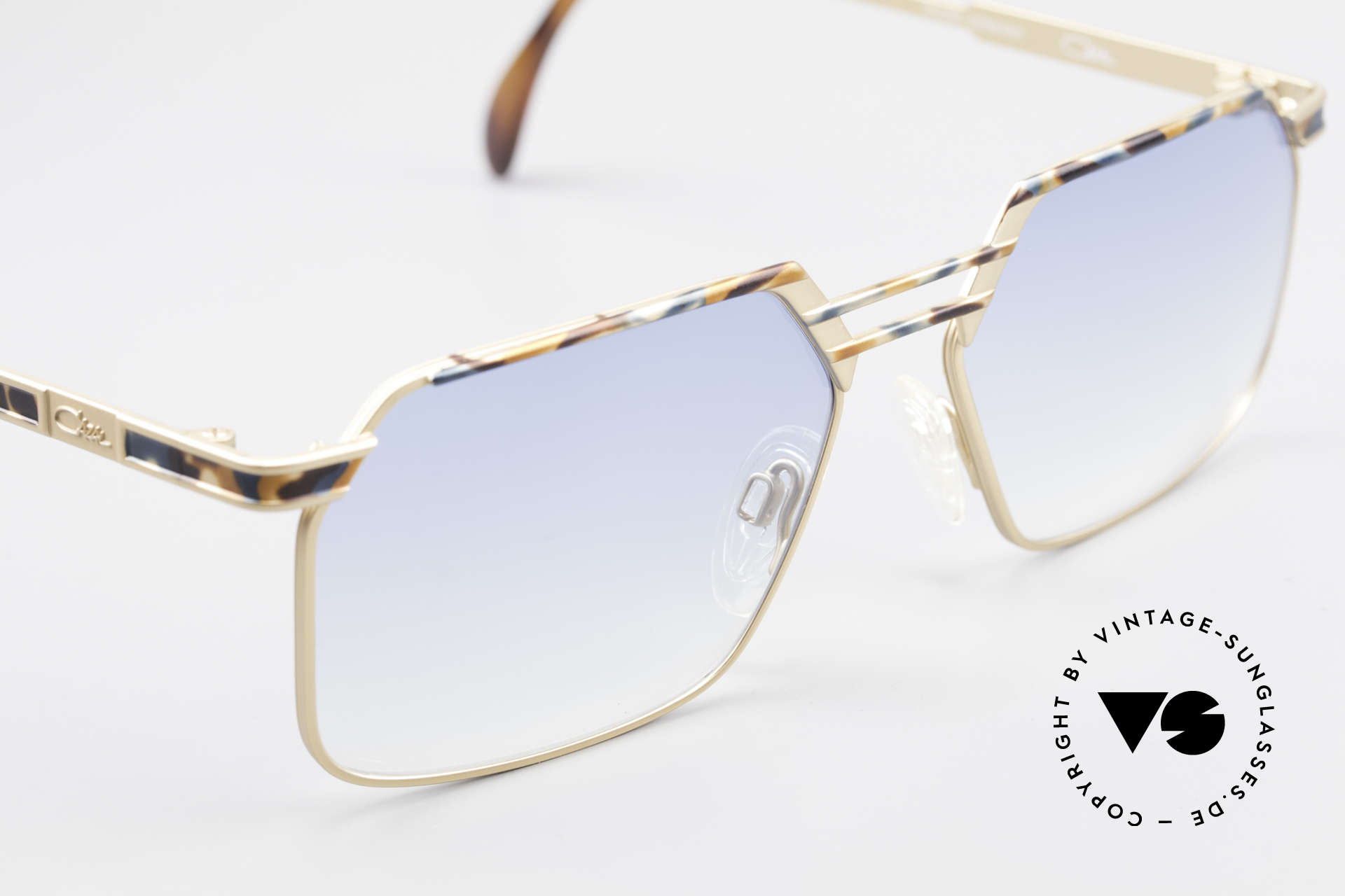 Cazal 760 True Vintage Men's Sunglasses, unworn, light-blue tinted lenses, M size 57-16, Made for Men