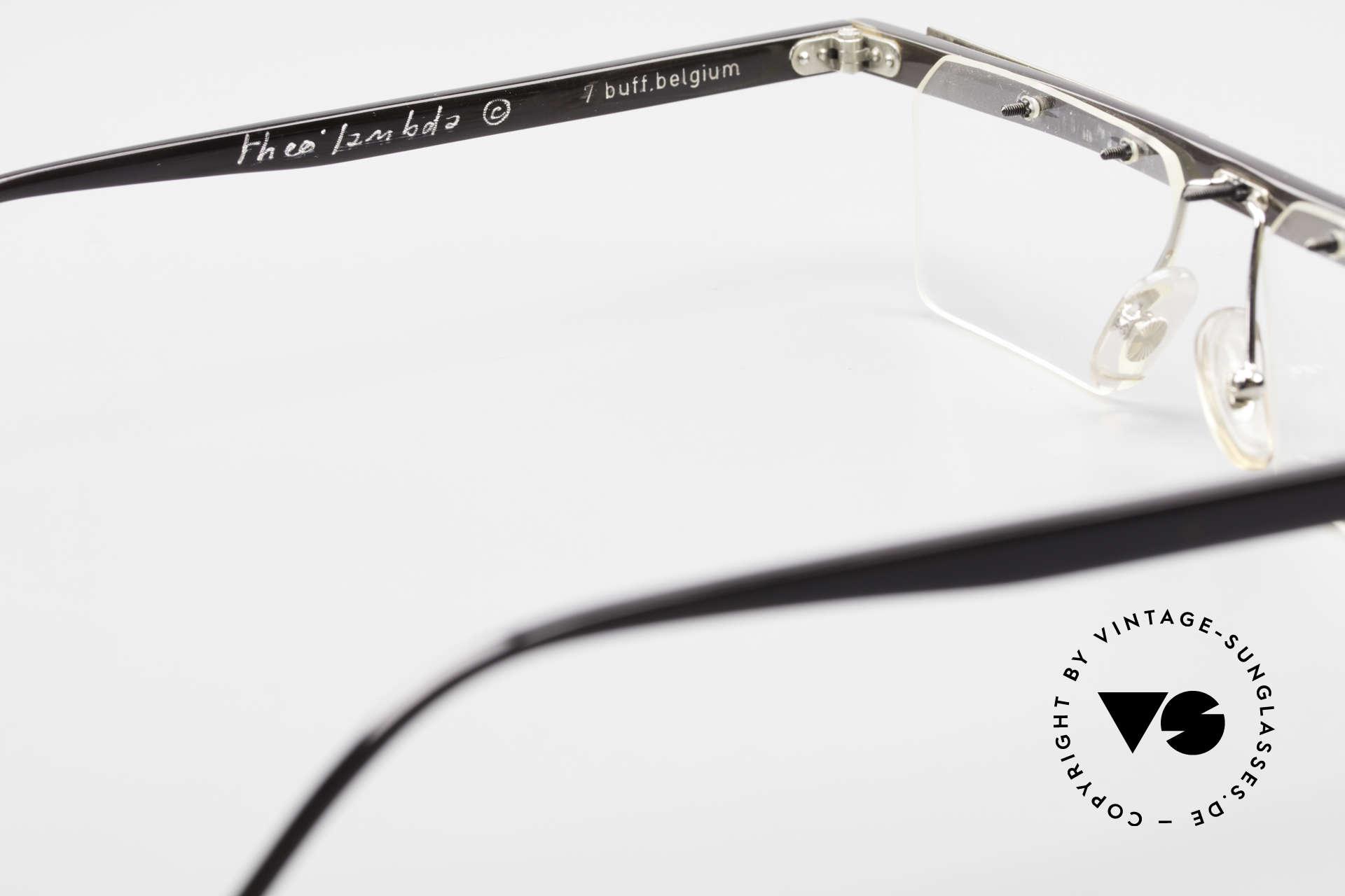 Theo Belgium Lambeta 7 Genuine Buffalo Horn Frame, so to speak: vintage eyeglasses with representativeness, Made for Men