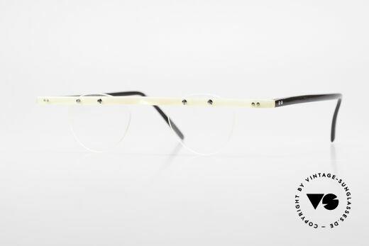 Theo Belgium Fhefa Rare 90's Buffalo Horn Glasses Details