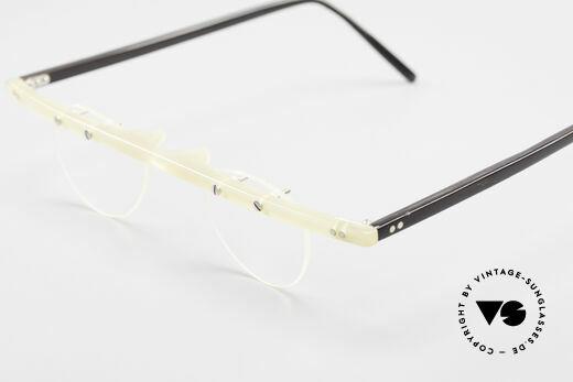 Theo Belgium Fhefa Rare 90's Buffalo Horn Glasses