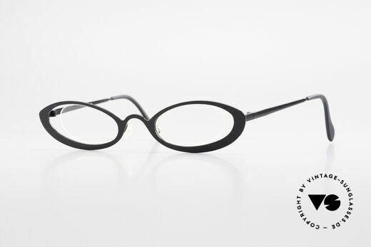 Theo Belgium RaRa Rimless 90's Cateye Glasses Details