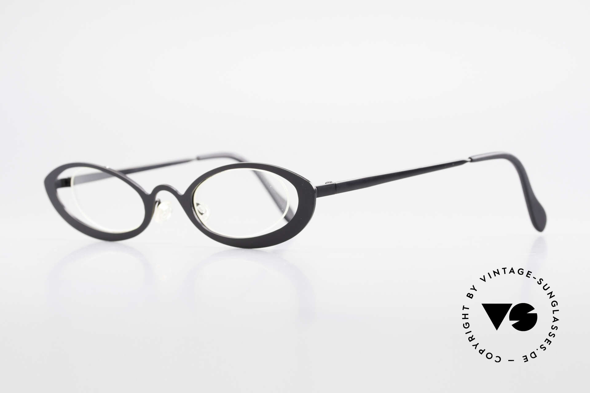 Theo Belgium RaRa Rimless 90's Cateye Glasses, lenses are fixed with a nylor thread (Cat's eye style), Made for Women