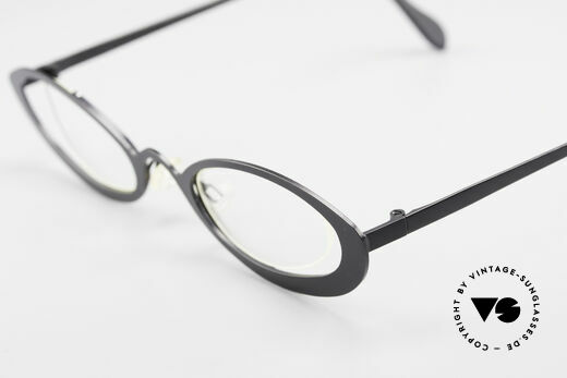 Theo Belgium RaRa Rimless 90's Cateye Glasses