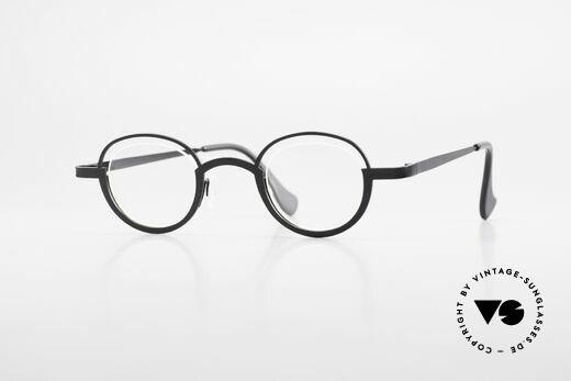 Theo Belgium Dozy Slim Rimless 90's Metal Eyeglasses Details