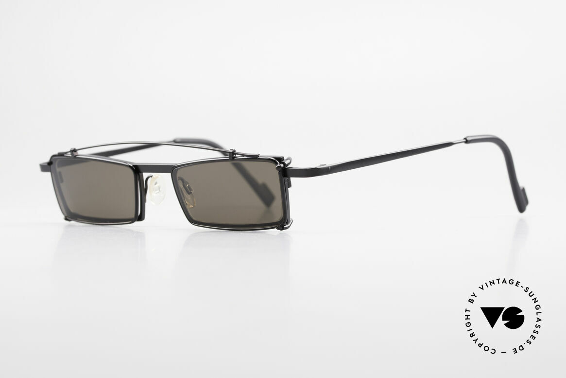 Theo Belgium XM Square Designer Frame Clip On, made for the avant-garde, individualists, trend-setters, Made for Men