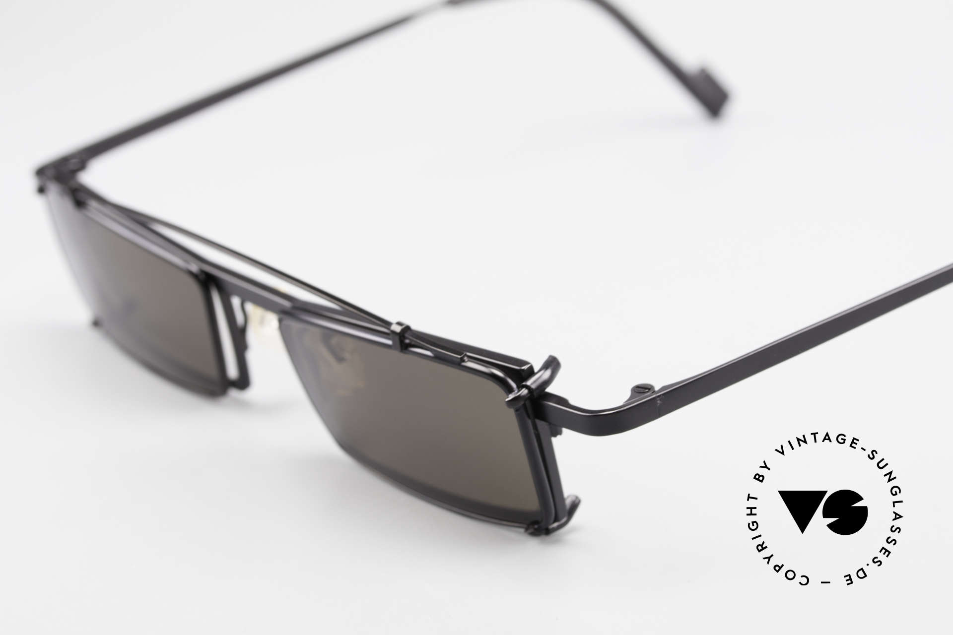 Theo Belgium XM Square Designer Frame Clip On, square frame construction with removalble SunClip-On, Made for Men