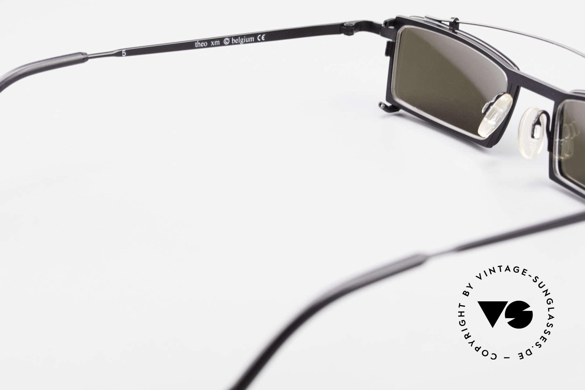 Theo Belgium XM Square Designer Frame Clip On, so to speak: vintage sunglasses with representativeness, Made for Men