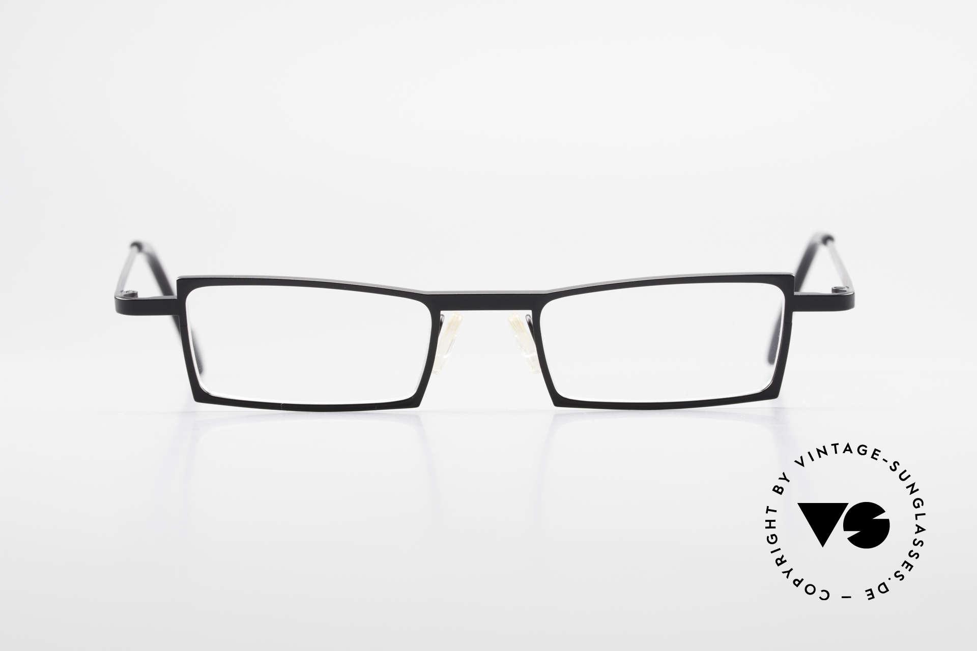 Theo Belgium XM Square Designer Frame Clip On, Size: medium, Made for Men