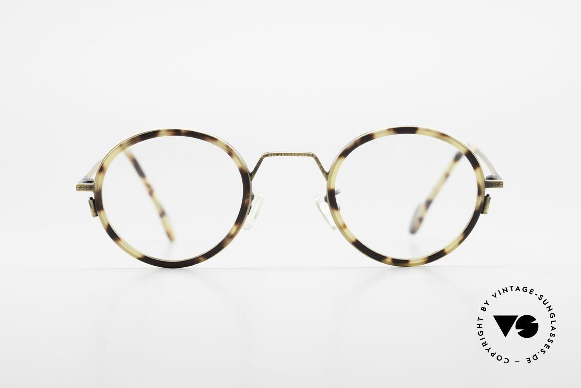 L.A. Eyeworks JO HENRY 442 Round Vintage 90's Eyeglasses, minimalist construction of simple geometric forms, Made for Men and Women
