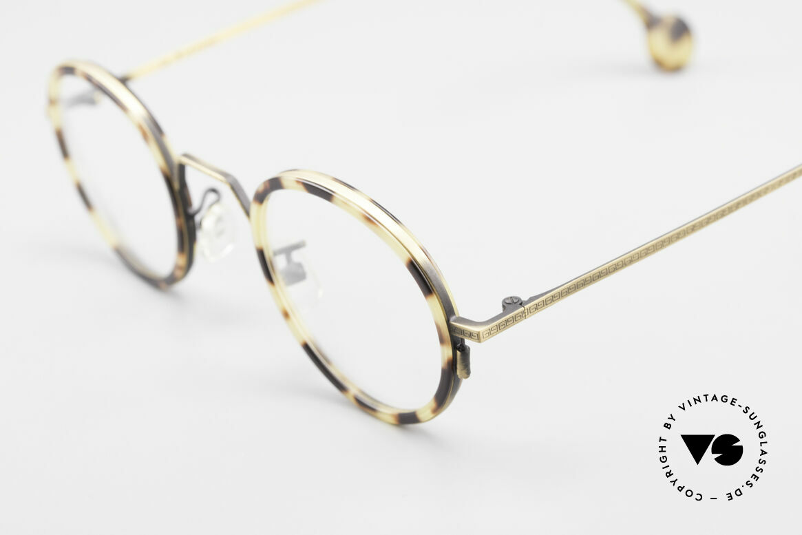 L.A. Eyeworks JO HENRY 442 Round Vintage 90's Eyeglasses, unworn, one of a kind (like all our L.A.E. spectacles), Made for Men and Women