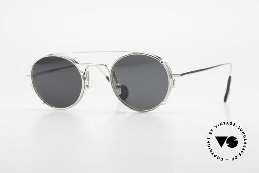 L.A. Eyeworks QUIMBY 405 Round Glasses With Sun Clip Details
