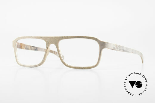 Rolf Spectacles Dino 41 Stone Eyewear & Wood Frame Details