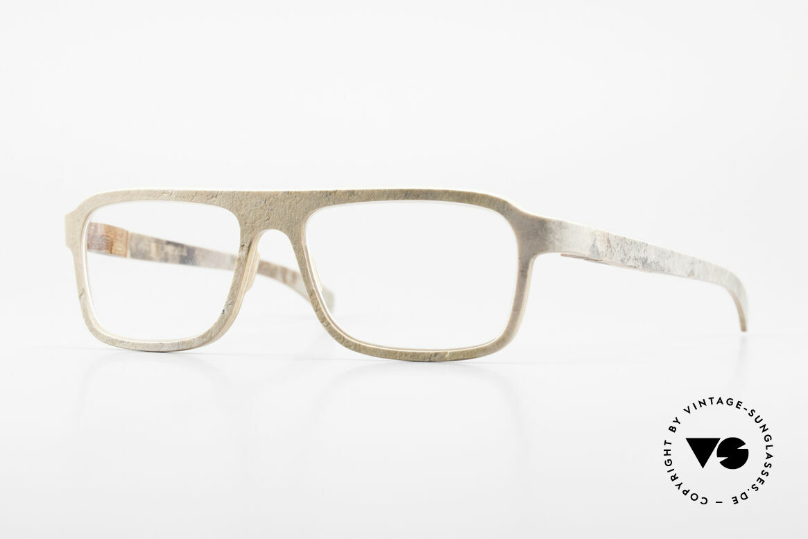 Rolf Spectacles Dino 41 Stone Eyewear & Wood Frame, Rolf Spectacles eyeglasses, made from PURE WOOD, Made for Men