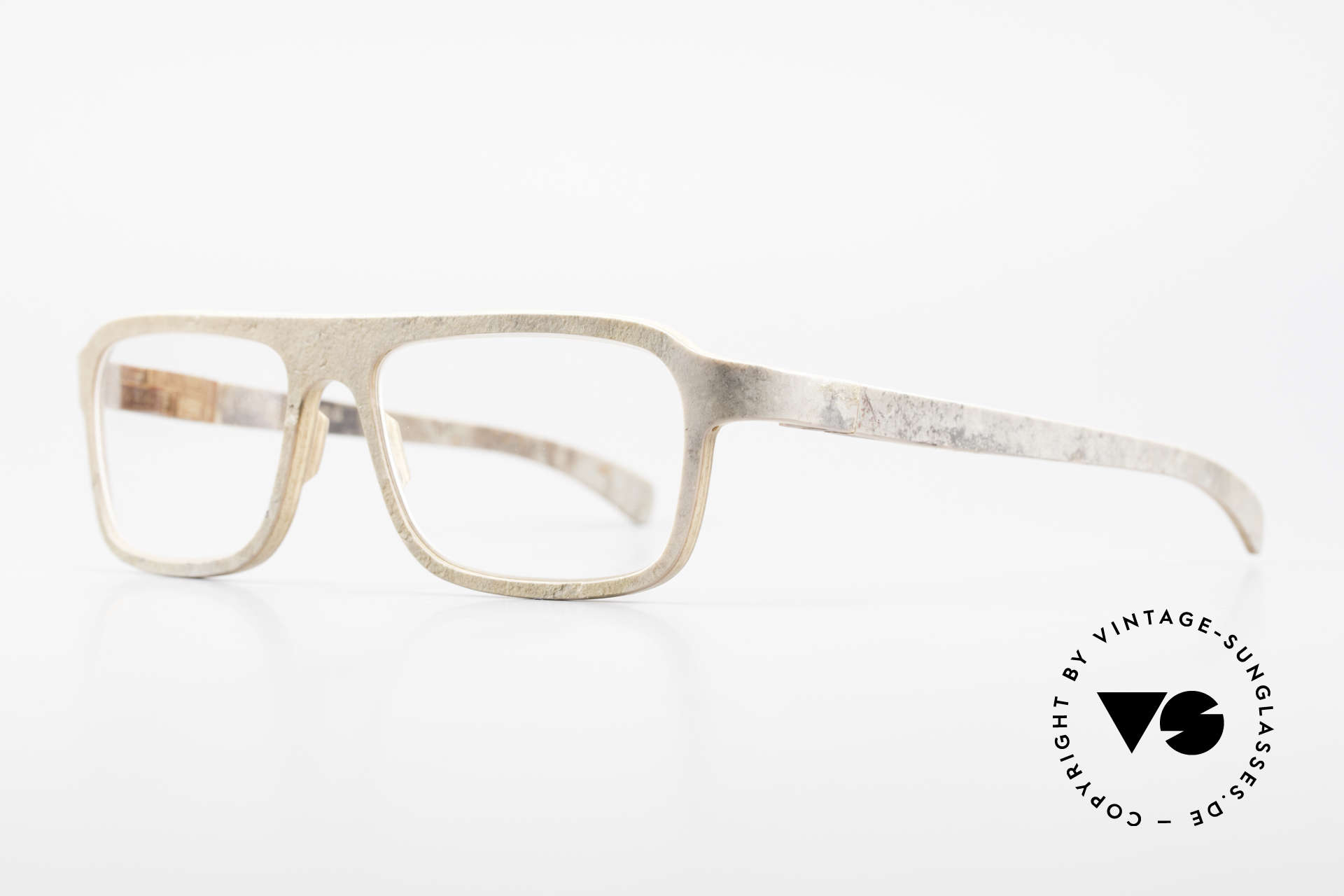 Rolf Spectacles Dino 41 Stone Eyewear & Wood Frame, true masterpiece (pure natural material, handmade), Made for Men