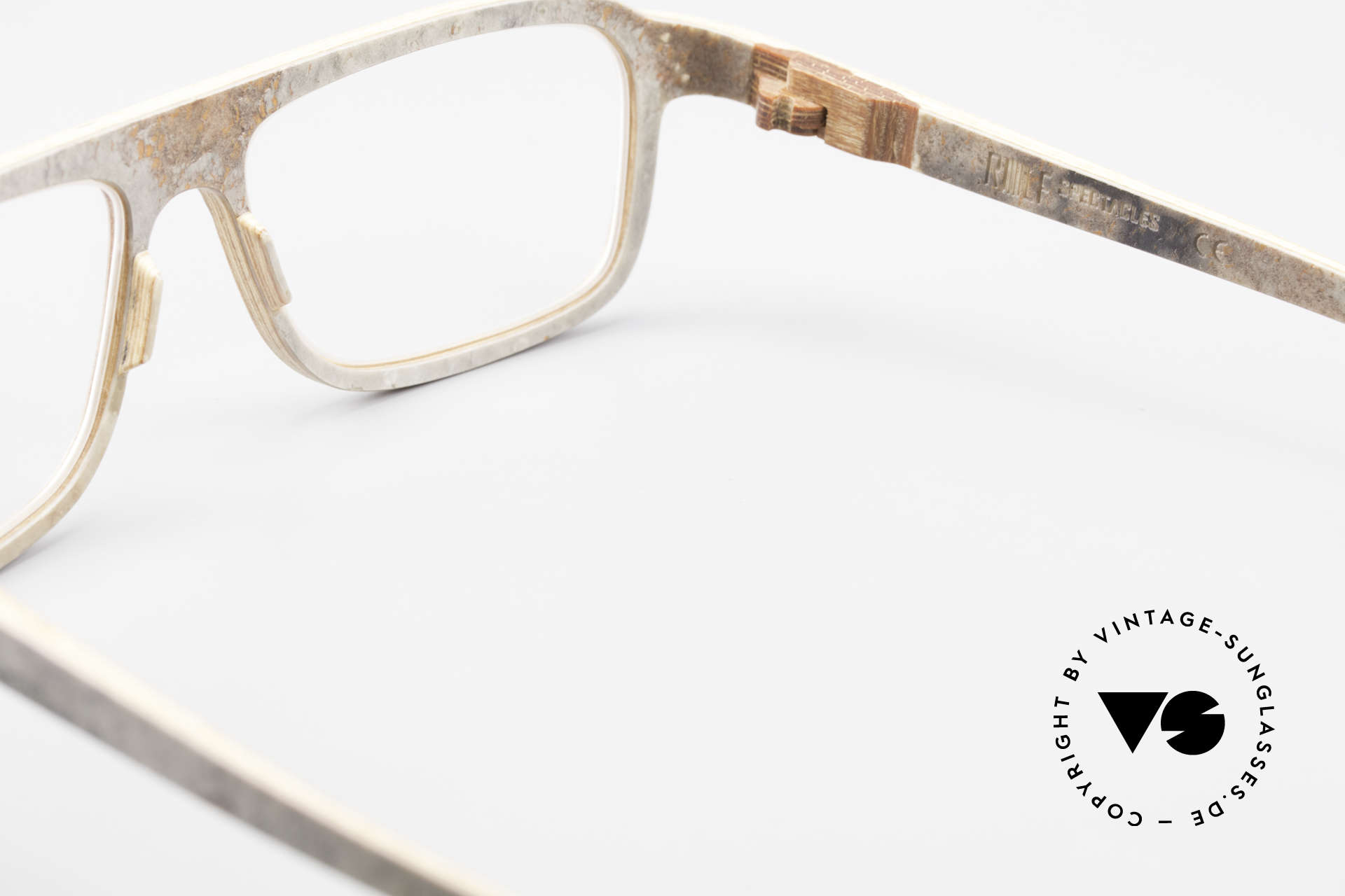 Rolf Spectacles Dino 41 Stone Eyewear & Wood Frame, Size: large, Made for Men